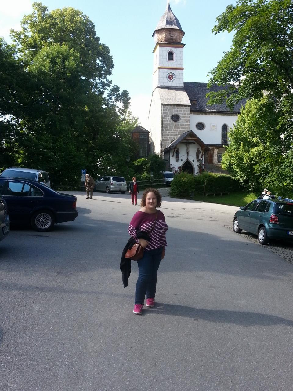 Ich vor der Kirche Maria Eck