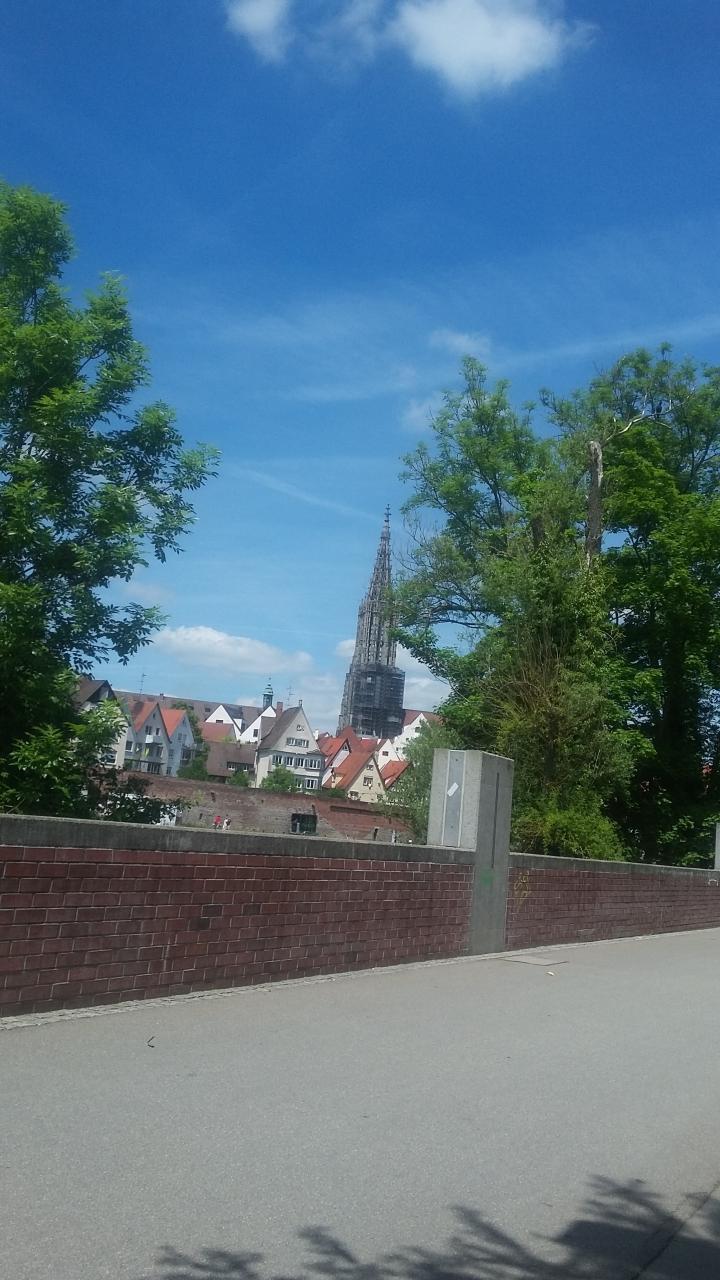 Ulm nicht ganz in der Stadtmitte