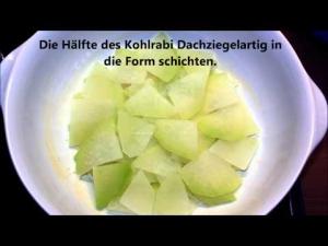 Kohlrabi Gratin mit Fischfilet in Maismehlpanade  *** Klimasch kocht ***